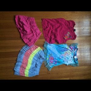 Bundle Of 4 Girls Tops and Bottoms